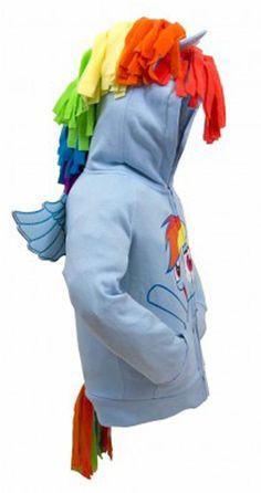 dc8ba45fba1 My Little Pony Hoodie Rainbow Dash Face Kids Sky Blue Costume Sweatshirt -  Galleon Philippines