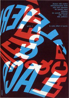 I'm not sure what this poster is about, I wish I could read it better. Vintage italian graphic design