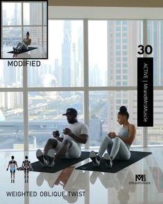 Hiit Workout Videos, Full Body Hiit Workout, Oblique Workout, Hiit Workout At Home, Gym Workout For Beginners, Gym Workout Tips, Fitness Workout For Women, Workout Challenge, At Home Workouts