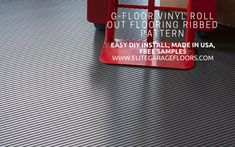 G Floor Vinyl roll out ribbed pattern Garage Floor Covering. G Floor installs easy. Made in USA, Free Ground Shipping! Garage Floor Mats, Vinyl Roll, G Floor, Vinyl Floor Covering, Concrete Floors, Vinyl Flooring, Easy Diy, Usa, Shop
