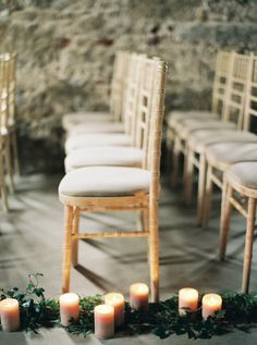 Moody candlelit aisle: http://www.stylemepretty.com/2015/11/04/charming-borris-house-wedding-in-ireland/ | Photography: Laura Gordon - http://lauragordonphotography.com/