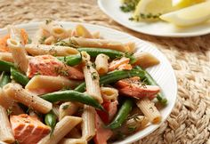 Stodolas IGA - Recipe: Alaska Salmon Penne with Green Beans and Vinaigrette