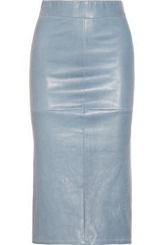 Zero+MariaCornejo|Stretch-leather midi skirt|NET-A-PORTER.COM