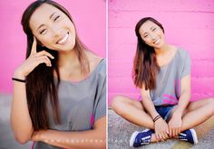 Slight changes make totally different images! Cute pose for girl senior session