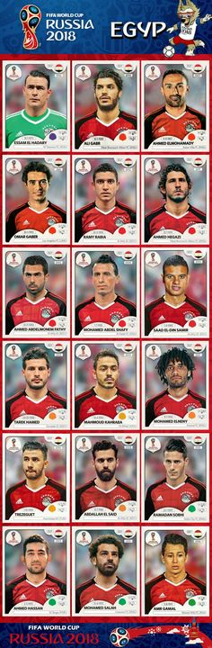 # Panini Stickers # Egypt National Team     FIFA World Cup 2018