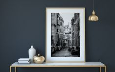 Street Wall Art, Italy House, Travel City, Home Printers, Gold Walls, City Architecture, Last Minute Gifts, Poster Wall, Large Prints