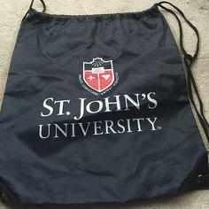 St John's University string bag Navy blue string bag Bags Backpacks