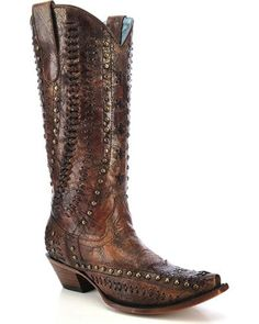 Corral Women's Leather Stitched Western Boots | Boot Barn