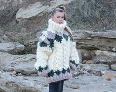 Ready to ship in size , 4 kg 15 strands Nordic Mohair Sweater, Chunky Knit Cabes Turtleneck Pullover, Huge Norwegian Pullover Mohair Yarn, Mohair Sweater, Nordic Pullover, Thing 1, Angora, Cool Sweaters, Chunky Sweaters, Sweater Outfits, Turtleneck Outfit