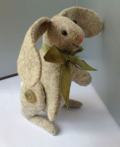 Little Felt Bunny and Free Bunny Embroidery Patterns