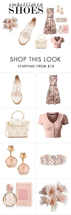 """Lace & Flowers"" by denise-grimes ❤ liked on Polyvore featuring Nicholas Kirkwood, Ted Baker, ZAC Zac Posen, LE3NO, Pasquale Bruni, Blue Nile and Bulgari"
