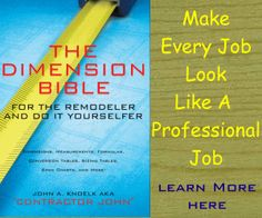 The Dimension Bible - http://constructionarea.net/blog/3208-2/  Go to http://constructionarea.net/blog to learn what else we have to say