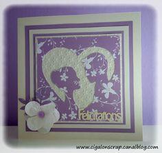 Carte félicitations mariage - By Cigalon