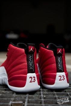>>>Cheap Sale OFF! >>>Visit>> The Air Jordan 12 Retro Gym Red is one of the hottest retro colorways weve seen in a while. Still available in Grade School sizes. Air Jordan 12 Retro, Jordan 23, Jordan Swag, Mode Shoes, Sneakers Mode, Sneakers Fashion, Jordan Shoes Online, Air Jordan Shoes, Jordan Shoes For Men