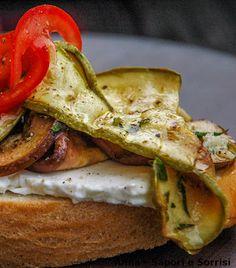 ANNA-SAPORI E SORRISI: Bruschetta di verdure grigliate e formaggio