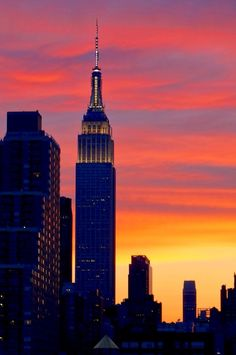 The empire State Building at sunset is one of those special moments where you can't help but marvel at its beauty.