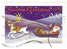 Suomen ensimmäinen postin julkaisema joulupostimerkki (1973) - 70-luvulta, päivää ! -blogi