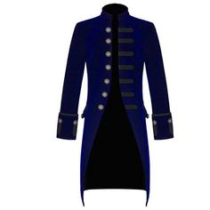 New Mens Steampunk Vintage Tailcoat Jacket Velvet Gothic Victorian... ($79) ❤ liked on Polyvore featuring men's fashion, men's clothing, men's outerwear, men's coats, mens velvet coat, mens red coat, mens gothic coats and men's victorian frock coat
