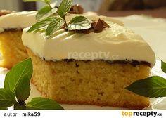 Řezy s povidly a mascarpone recept - TopRecepty.cz Vanilla Cake, Sweet Tooth, Cheesecake, Pudding, Recipes, Food, Mascarpone, Cheesecakes, Custard Pudding