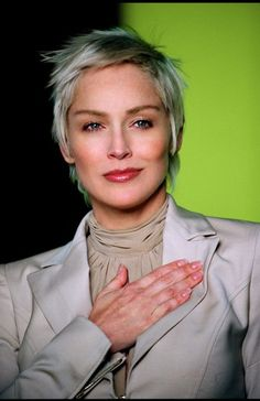 Sharon Stone - not a fan but I do like the hair cut and shade!