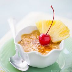 If you like pineapple upside-down cake, then you'll love this creme brulee!