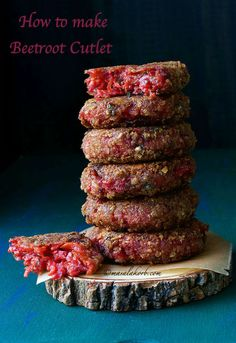 How to make Beetroot Cutlet Beetroot Patties Recipe Lunch Box Recipes, Baby Food Recipes, Indian Food Recipes, Snack Recipes, Snacks, Burger Patty Recipe, Patties Recipe, Beetroot Burgers, Vegan Burgers