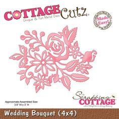 COTTAGE CUTZ DIES - Cutting die WEDDING BOUQUET- CC4x4-503 REDUCED CLEARANCE in Crafts, Cardmaking & Scrapbooking, Die-Cutters | eBay