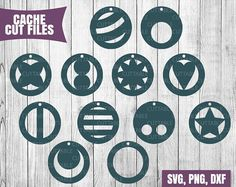 Geometric Circular earring cut files - SVG/PNG/DXF This listing includes: 1 ZIP folder with: 12 SVGs 12 PNGs 12 DXFs (compatible with Silhouette Studio) --- Please make sure you can unzip files on your computer and your software and machine accepts these formats prior to purchase ---