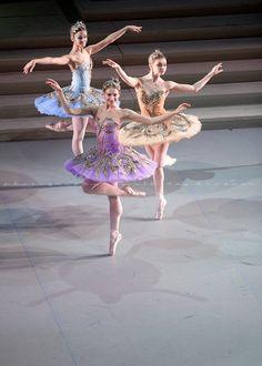 Sleeping Beauty at Mikhailovsky Theater, Pas de trois pour la Fées dOr, dArgent et de Saphir by Nikolay Krusser