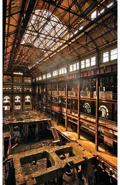 Abandoned New York Power Plant Would make an impressive library.