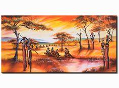 Tableau Africaines au bord de l'eau 30339