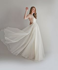 Danielle lace and silk chiffon gown by Leanimal on Etsy, $2,878.00