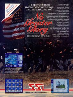 #CelebrateGaming 1991 ad memories - SSI takes another stab at a complete Civil War simulation with No Greater Glory.