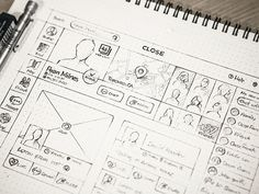 Beautifully detailed wireframes of Founder and Creative director at Unfold Eddie @lobanovskiy via @humble_ux The sketch is of a web version of a social network for close friends and family.  Tag a friend  and follow @humble_ux . #wireframe #digital #interface #mobile #design #application #ui #ux #webdesign #app #userinterface #photoshop #userexperience #inspiration #materialdesign #uxdesignmastery #creative #dribbble #time #behance #appdesign #sketch #designer #website #programming #art…