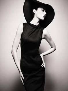 ,Girl in a hat! Black  white photography
