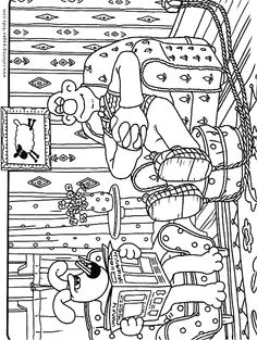 Wallace and Gromit Enjoying coloring picture for kids  Wallace