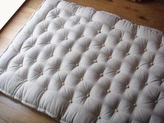 """Wool-Filled Shikibuton / Full size / 5"""" Thick / Cover (ticking): 100% Linen (Flax) fabric"""