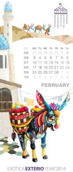 Мир, сотканный с любовью: 14 креативных дизайнерских фотографий. Этот #календарь на 2014 год – Exotica Exterio для студии интерьерных тканей таки вышел из печати, а было это в конце декабря 2013 года! Дизайнеры работали над ним восемь месяцев. Получилось здорово. Вопрос к вам, зрителям и ценителям креативного искусства, остается прежним: ну, и какая из цветных зверюшек вам тут глянулась? #искусство #креатив #дизайн #фото Table Calendar, Calendar Layout, Calendar 2014, Desktop Calendar, Desk Calendars, Graphic Design Calendar, Graphic Design Branding, Graphisches Design, Creative Design