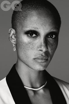 """GQ Oct 2017 - Adwoa Aboah by Mariano Vivanco "" Diamond Necklace Simple, Diamond Choker, Diamond Pendant Necklace, Diamond Necklaces, Diamond Jewelry, Engraved Rings, Engraved Jewelry, Harry Winston, Flower Pendant"