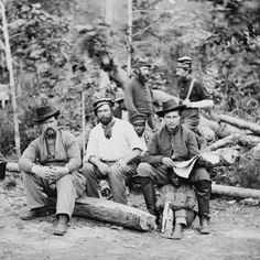 """Union soldiers with """"contraband"""" slave . Prior to the Emancipation Proclamation, certain Union generals would free all slaves they came across, treating them as confiscated property under the Confiscation Act of 1861."""