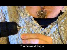 Eva Sherman showing how to make a coiled wire rosette ring.