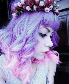 Beautiful purple pink ombre