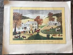1953 Grandma Moses Home for Thanksgiving Print | eBay
