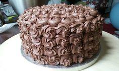 Chocolate and coconut cake (Italian meringue buttercream)