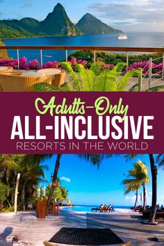 Perfect for travelers who want to get away from it all, adults-only, all-inclusive resorts take the stress out of vacation planning where all the little details are taken care of for you. 15 Best Adults-Only All-Inclusive Resorts in the World Leon Vacations In The Us, Free Vacations, Romantic Vacations, Romantic Getaways, Romantic Travel, Apple Vacations, Romantic Resorts, Unique Vacations, Romantic Places