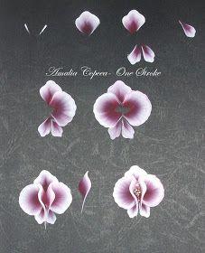 Buna !   Astazi vorbim despre orhidee pictate One Stroke.  Vom folosi asa cum v-am obisnuit, culori acrilice, o pensula sintetica lata, o pe...