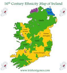 16th century ethnicity map of Ireland.
