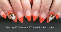 Owl Gemstone Gel Nail Art Step by Step - featuring Aurum One Component Resin | LCN Canada