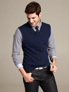 Banana Republic Classic Sweater Vest Preppy Navy in Blue for Men (Preppy navy) | Lyst