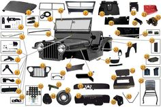 1946-1964 Jeep CJ2A, CJ3A, CJ3B, M38A1 Body Parts & Accessories | Morris 4x4 Center